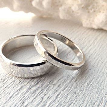 Eheringe Rustikal by Rustic Silver Ring Set Rustic Wedding From Crazyass Jewelry