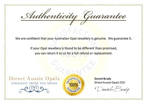 authenticity certificate template free certificate of authenticity template