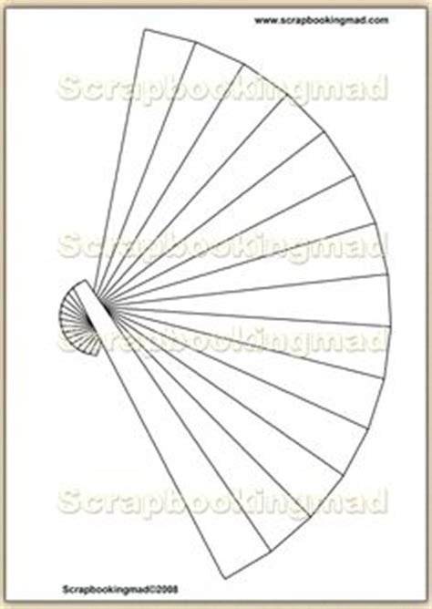 fan and card template fan blades patterns templates tutorials 1