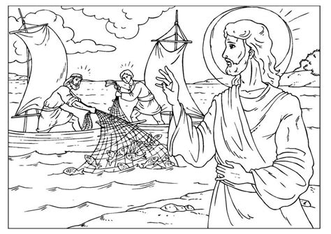 fishers of men coloring page coloring home