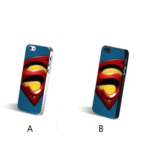 Soft Blue Superman Iphone 6s steel superman up phone for iphone 4 4s 5