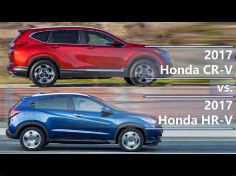 2017 honda cr v vs 2017 honda hr v (technical comparison