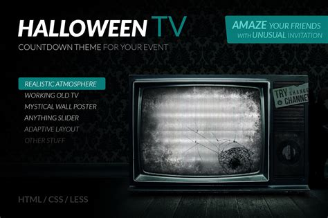 halloween tv themes halloween tv html countdown theme bootstrap themes on
