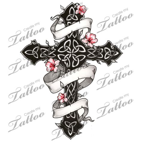 tattoo design marketplace marketplace tattoo gothic and floral celtic cross 1751