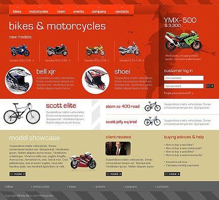 Bike Shop Website Template 4879 Bike Shop Website Template