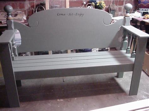 benches made out of headboards this site has a ton of ideas for making benches out of old
