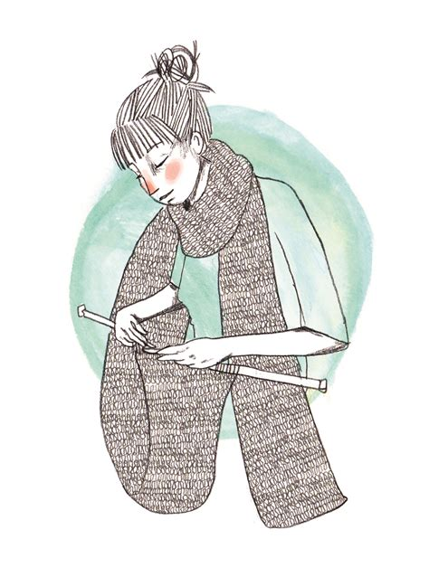 knitting illustration nohanpaaj knit illustration