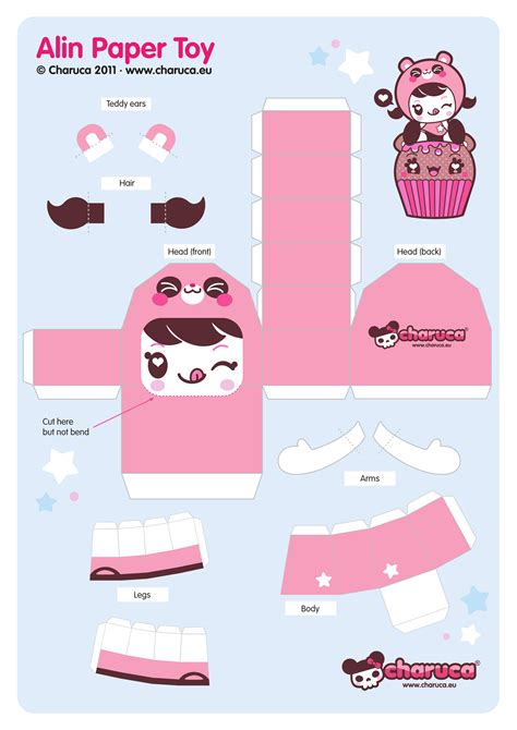 Food Papercraft Template - best photos of kawaii papercraft template bunny