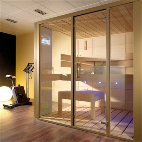 luxury and futuristic home sauna gala from porcelanosa