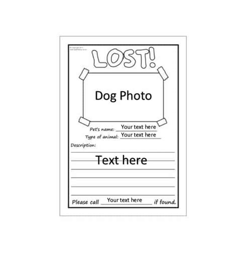 Printable Lost Flyers
