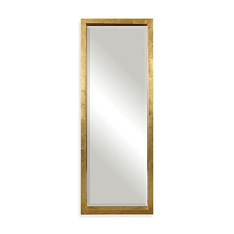uttermost 27 5 inch x 75 5 inch edmonton rectangular floor mirror in gold bed bath beyond