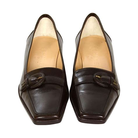 chanel loafers price chanel brown leather square toe loafers sz 37 at 1stdibs