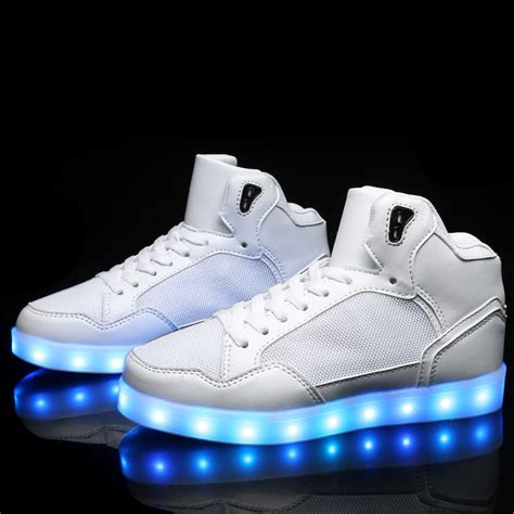 light up shoes classic high top light up shoes for adults