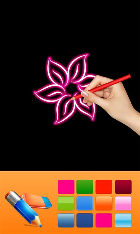 glow doodle drawing pad glow draw doodle appstore for android