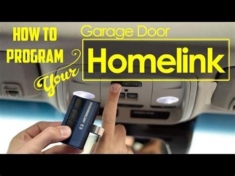 homelink programming instructions garage door opener   save money