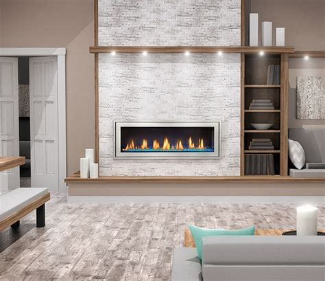 linear gas fireplaces napoleon vector lv50n direct vent linear gas fireplace