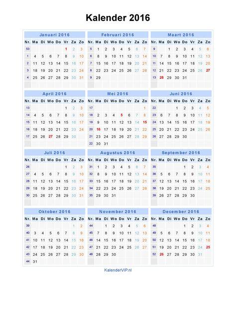 Astrologische Kalender Voor Nederland Belgie En Kolonien Voor 1938 kalender 2016 jaarkalender en maandkalender 2016 met weeknummers en feestdagen