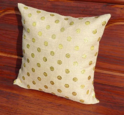 Zip Pillow Covers by Gold Polka Dot Burlap Pillow Covers Zippered Pillow Decorative