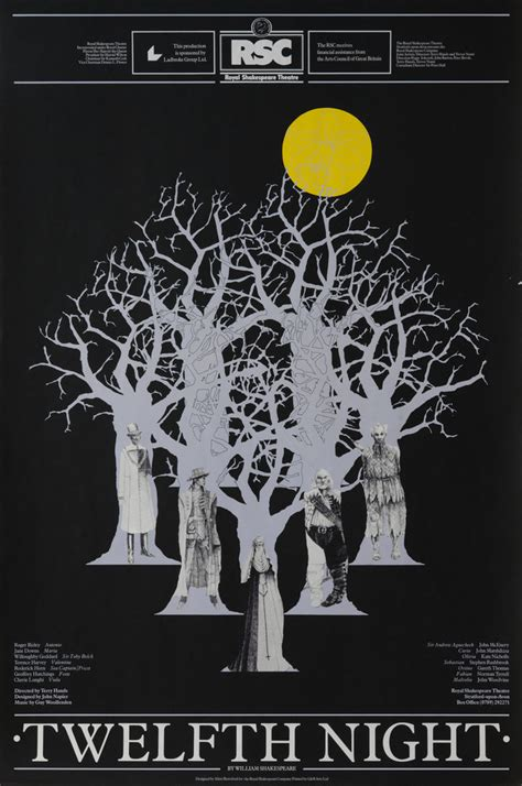 twelfth night twelfth night 1979 royal shakespeare company posters