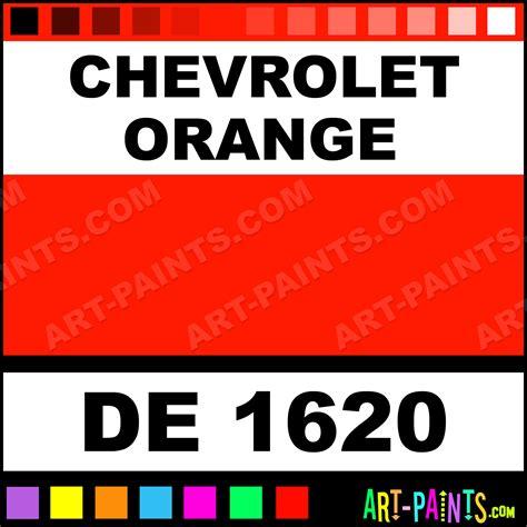 chevrolet orange engine enamel paints de 1620