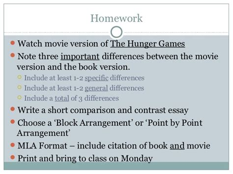 Hunger Compare And Contrast Essay by Book Comparison Essay