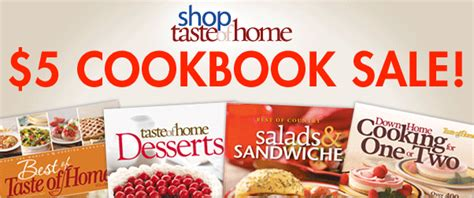 5 cookbooks from taste of home free shipping s