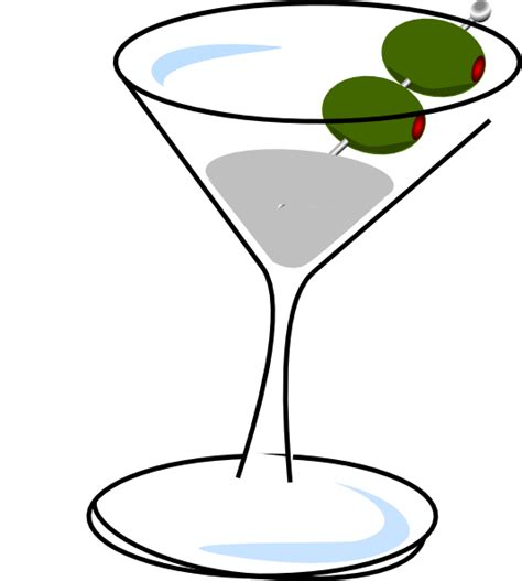 Martini With Olives Clip At Clker Com Vector Clip