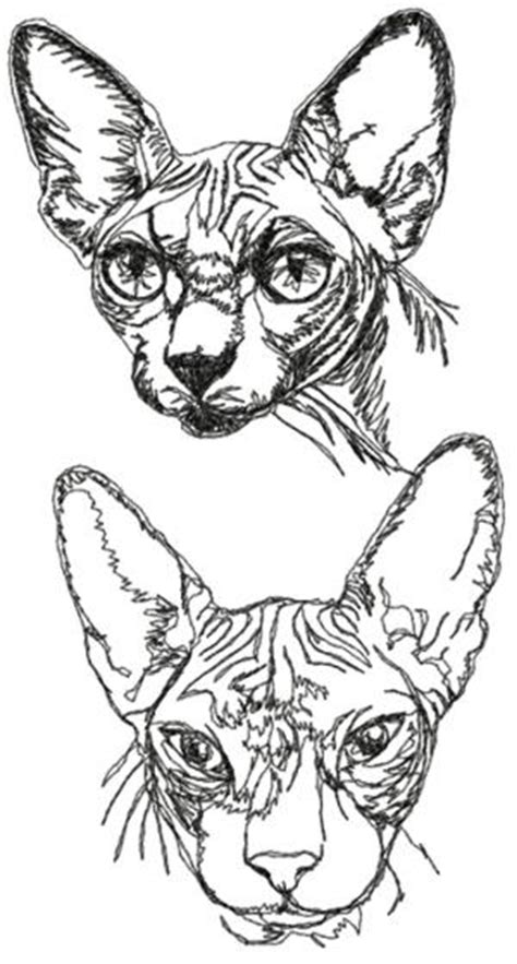 advanced embroidery designs sphynx cat