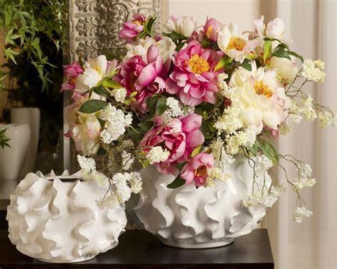 composizioni floreali in vaso vasi con fiori finti piante finte fiori finti