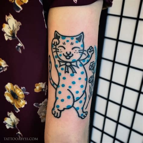 polka dot tattoo polka dot cat abyss
