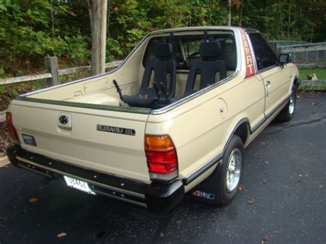 subaru brat turbo for sale unmolested 1986 subaru brat 4wd bring a trailer