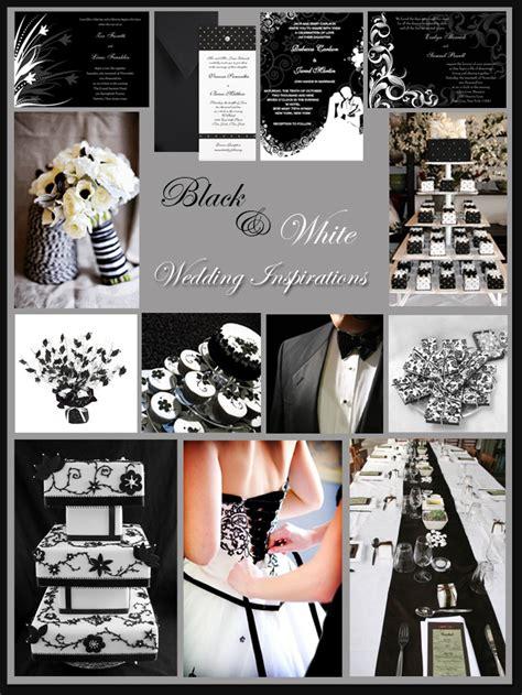 black white and silver wedding theme