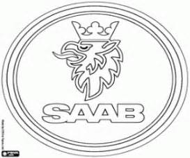 7 Brands With Popular Pages by Emblem Of The Brand Saab Coloring Page Printable