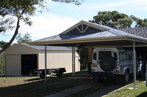 Attached Carport Designs the entertainer dutch gable carport fair dinkum sheds