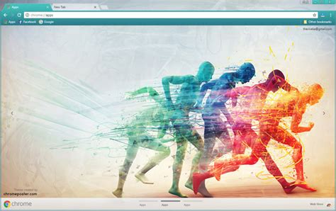 theme google chrome running man running speed art chrome theme chromeposta