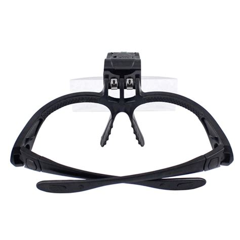 magnifying goggles with light 5 lens 1 0x 3 5x bracket headband magnifier loupe