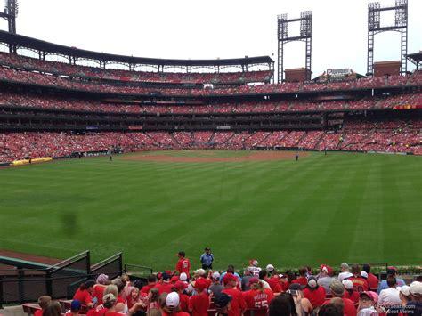 stadium sections outfield bleachers busch stadium baseball seating