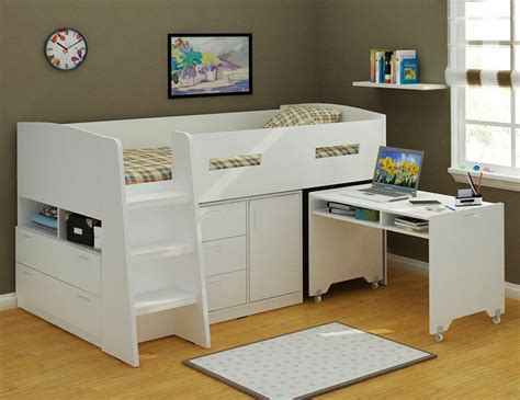 bunk beds with storage and desk jupiter loft bunk bed with desk and storage