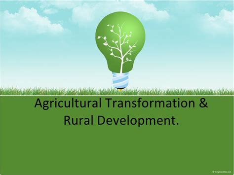 Usda Rual Development by Agricultural Transformation And Rural Development