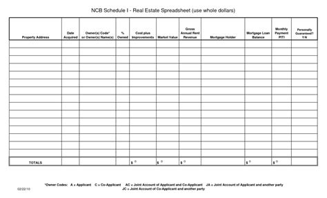 free rental property spreadsheet template and loan payment