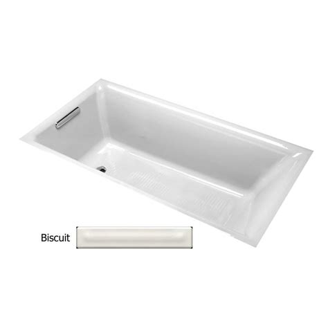 kohler bathtubs cast iron shop kohler parity 65 875 in biscuit cast iron drop in
