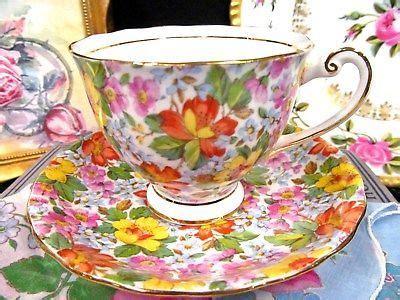 Set Floral Tea Cup Saucer Teaspoon 4828 best glass pottery images on tea pots
