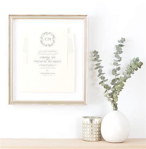 framing wedding invitations how to frame a wedding invitation