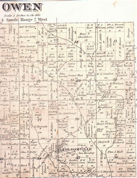 Owen County Indiana Court Records 1880 Maps Of Warrick County