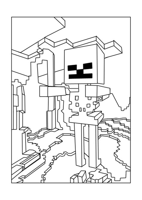 minecraft coloring pages mutant skeleton free printable minecraft games skeleton coloring in page
