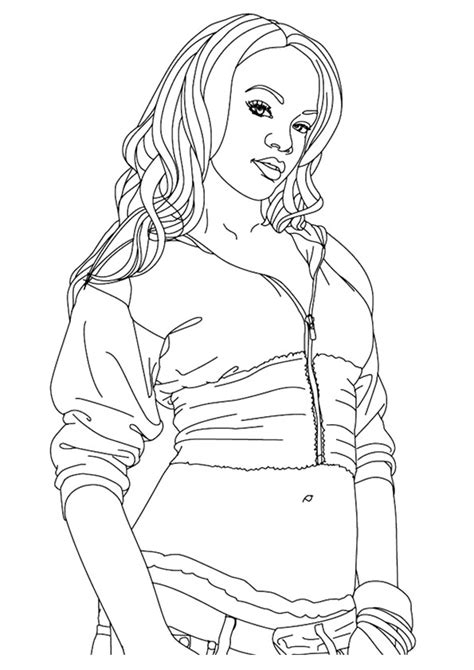 rihanna coloring pages coloring