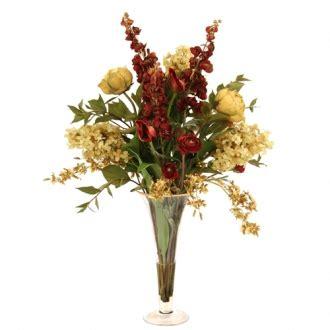 Vas Bunga Square Glass Vase waterlook 174 fall looking green cybidium orchid bouquet in