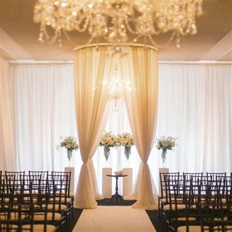 Wedding Ceremony Draping by Gorgeous And Simple Elegance Wedding Ceremony Black