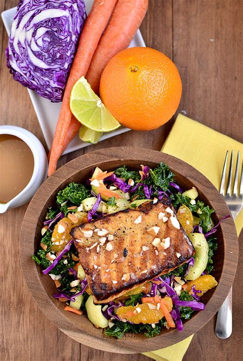 asian kale salmon salad iowa girl eats