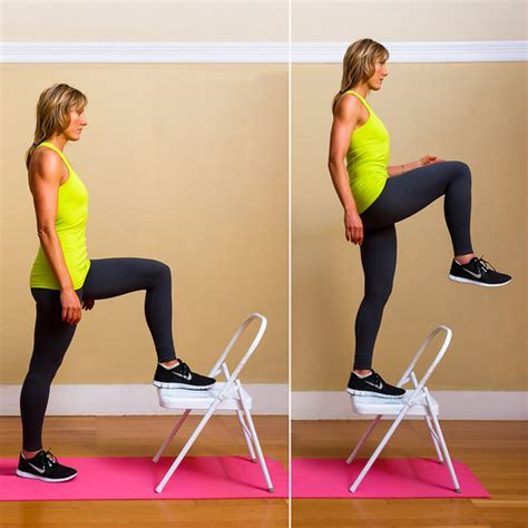 bench step up exercise how to do step ups popsugar fitness